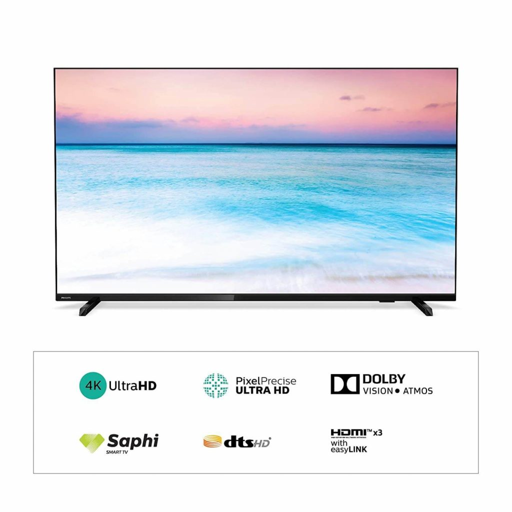 Philips 146 cm (58 inches) 6600 Series 4K UHD LED Smart TV