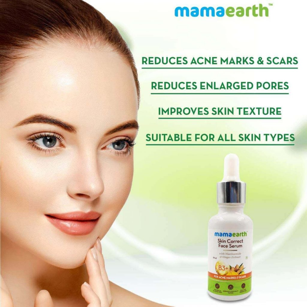 Mamaearth Skin Correct Face Serum Acne Scars 30ml